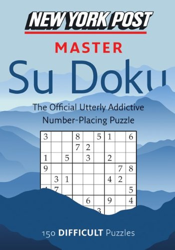 New York Post Master Su Doku Difficult N/A 9780061935817 Front Cover