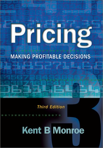 Pricing Making Profitable Decisions 3rd 2003 9780072528817 Front Cover