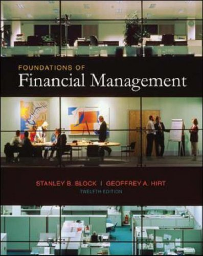 Foundations of Financial Management  12th 2008 (Revised) 9780073295817 Front Cover