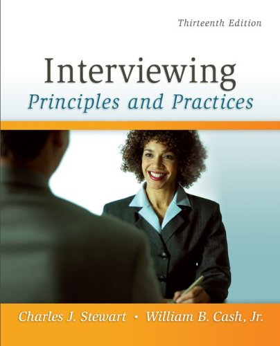 Interviewing Principles and Practices 13th 2011 edition cover