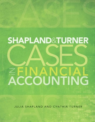 Shapland and Turner Cases in Financial Accounting   2013 edition cover