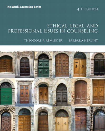 Ethical, Legal, and Professional Issues in Counseling  4th 2014 edition cover