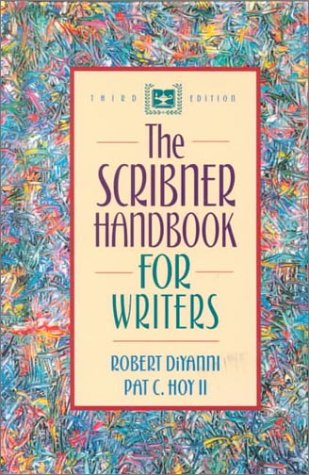 Scribner Handbook for Writers  3rd 2001 (Student Manual, Study Guide, etc.) edition cover
