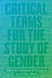 Critical Terms for the Study of Gender   2014 edition cover