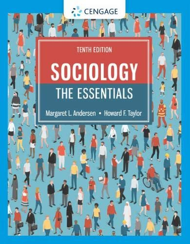 Sociology : the Essentials  10th 2020 (Revised) 9780357128817 Front Cover