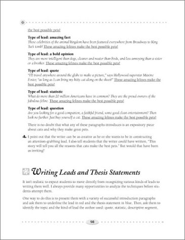 Step-by-Step Strategies for Teaching Expository Writing Engaging Lessons and Activities That Help Students Bring Organization, Facts, and Flair to Their Informational Writing  2001 (Teachers Edition, Instructors Manual, etc.) edition cover