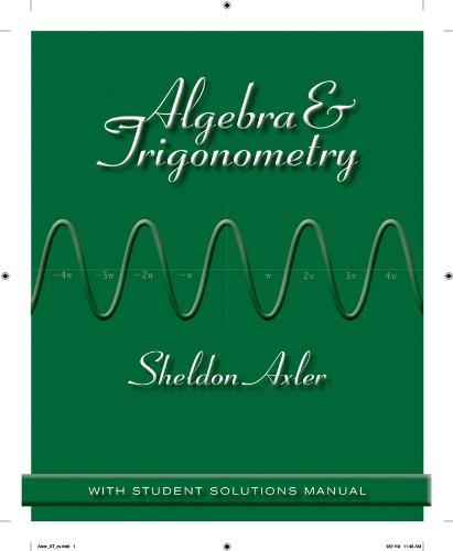 Algebra and Trigonometry   2012 edition cover