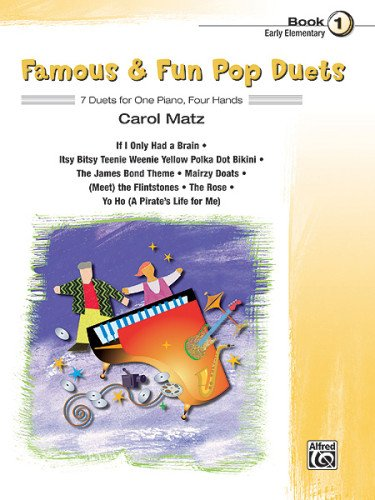 Famous and Fun Pop Duets 7 Duets for One Piano, Four Hands  2007 edition cover