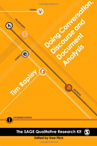 Doing Conversation, Discourse and Document Analysis   2008 edition cover