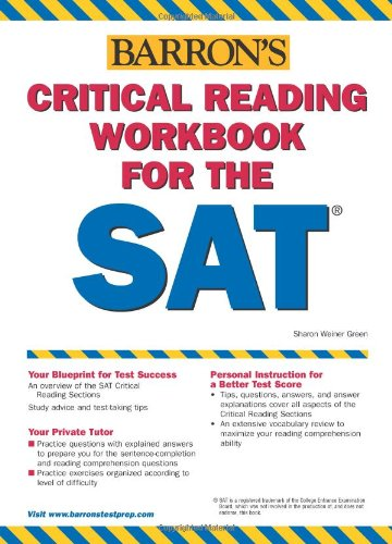 Barron's Critical Reading Workbook for the SAT  12th 2006 edition cover