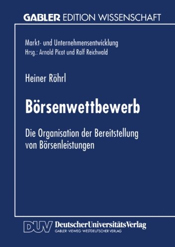 B�rsenwettbewerb   1996 9783824463817 Front Cover