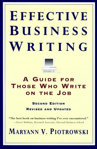 Effective Business Writing Strategies, Suggestions and Examples 2nd 1996 (Revised) edition cover