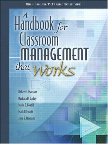 Handbook for Classroom Management That Works   2009 9780135035818 Front Cover