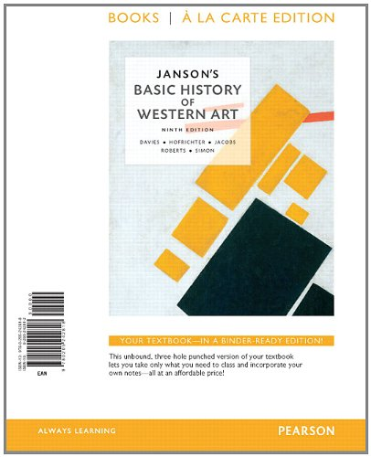 Janson's Basic of History of Western Art, Books a la Carte Edition  9th 2014 edition cover