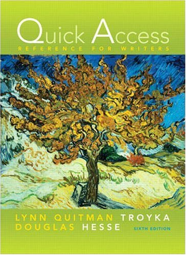 Quick Access Reference for Writers  6th 2010 edition cover