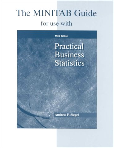 Practical Business Statistics Minitab Guide 3rd 1997 9780256224818 Front Cover