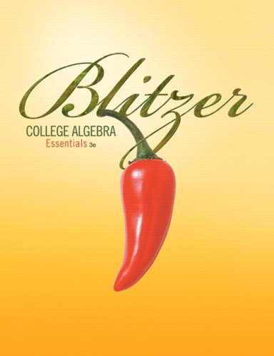 College Algebra Essentials  3rd 2010 edition cover