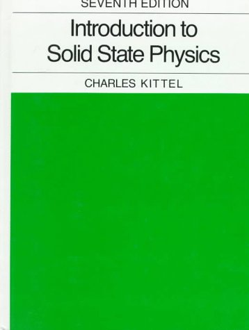 Introduction to Solid State Physics  7th 1996 (Revised) edition cover