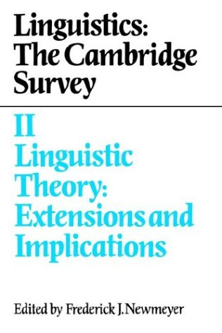 Linguistics Linguistic Theory - Extensions and Implications N/A 9780521375818 Front Cover