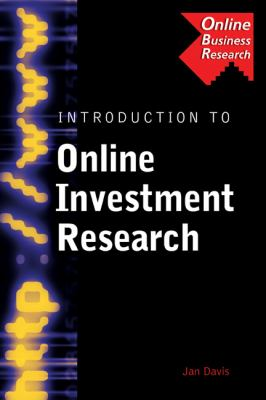 Introduction to Online Investment Research   2004 9780538726818 Front Cover