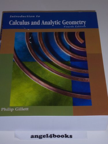Introduction to Calculus and Analytic Geometry 4th 2008 edition cover