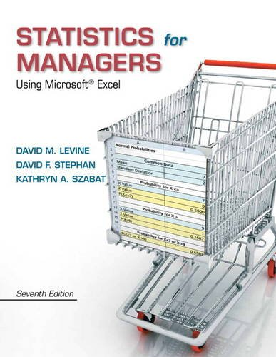Statistics for Managers Using Microsoft Excel 7th 2014 9780133061819 Front Cover