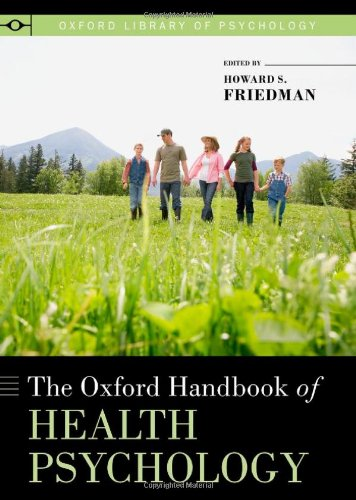 Oxford Handbook of Health Psychology   2011 edition cover