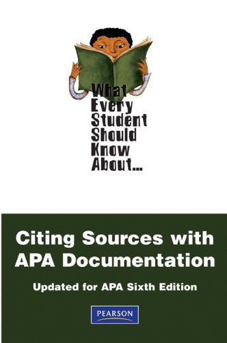 Citing Sources with APA Documentation  2nd 2010 (Revised) edition cover