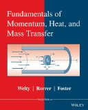 Fundamentals of Momentum, Heat and Mass Transfer  6th 2015 edition cover
