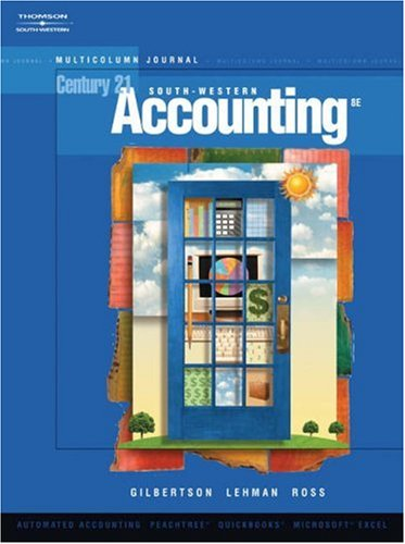 Century 21 Accounting Multicolumn Journal, Introductory Course 8th 2006 9780538972819 Front Cover
