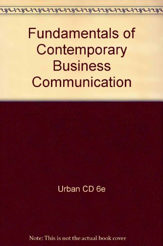 Business Communications 2nd Edition Plus Urban CD-ROM 2nd 2007 9780618823819 Front Cover