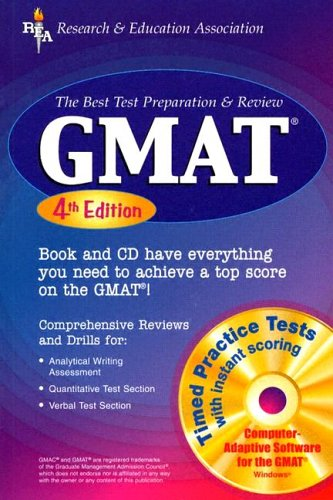 GMAT with Software  4th (Revised) 9780738600819 Front Cover