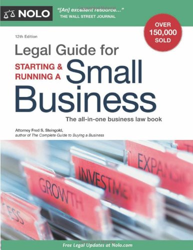 Legal Guide for Starting and Running a Small Business  12th 2011 (Revised) edition cover