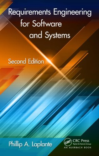 Requirements Engineering for Software and Systems:   2013 edition cover