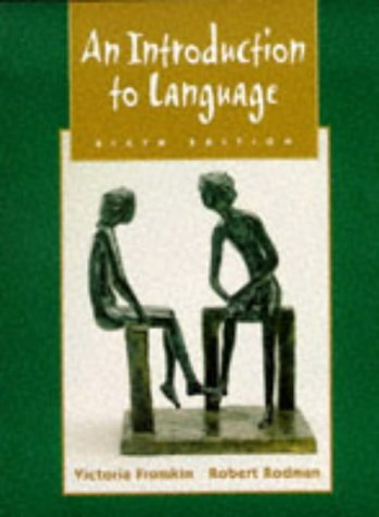 Introduction to Language  6th 1998 edition cover