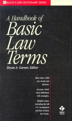 Black's Handbook of Basic Law Terms   1998 edition cover