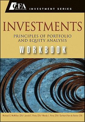 Investments Workbook Principles of Portfolio and Equity Analysis  2011 (Workbook) edition cover
