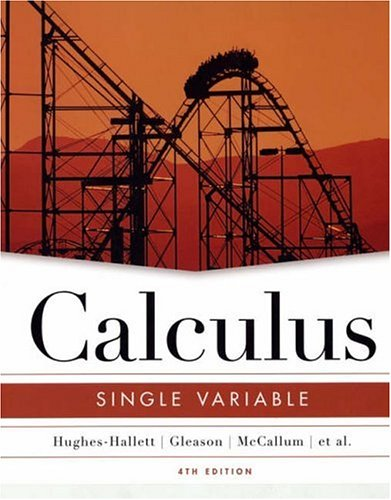 Calculus Single Variable 4th 2005 edition cover