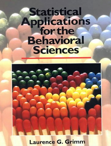 Statistical Applications for the Behavioral Sciences   1993 edition cover