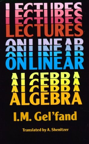 Lectures on Linear Algebra   1989 edition cover