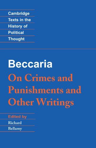 Baccaria 'On Crimes and Punishments' and Other Writings  1995 9780521479820 Front Cover