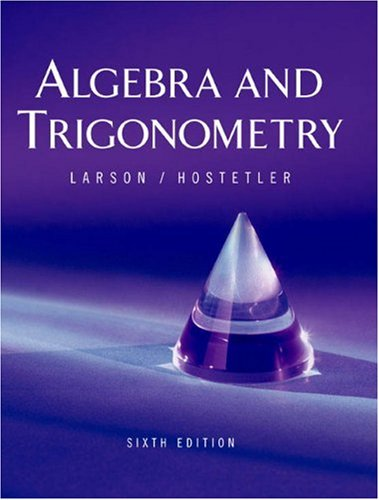 Algebra and Trigonometry Instructor Sample 6th 2004 edition cover