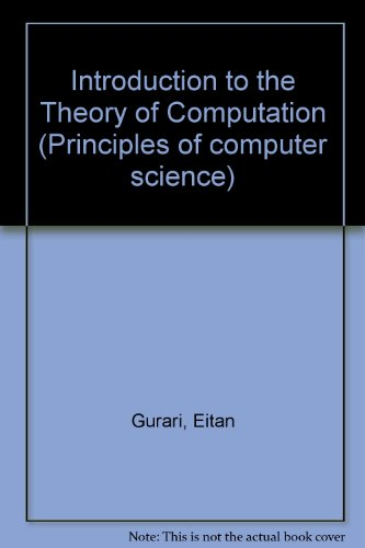 Introduction to the Theory of Computation  1989 edition cover