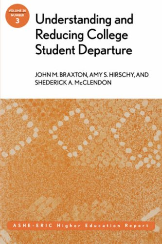 Understanding and Reducing College Student Departure   2004 edition cover