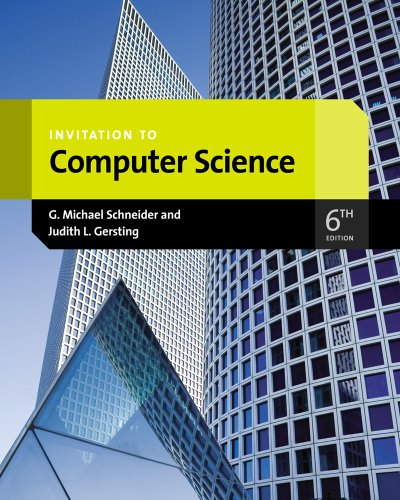 Invitation to Computer Science  6th 2013 edition cover
