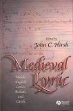 Medieval Lyric Middle English Lyrics, Ballads, and Carols  2004 edition cover