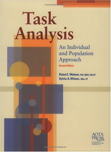Task Analysis An Individual and Population Approach 2nd 2003 edition cover