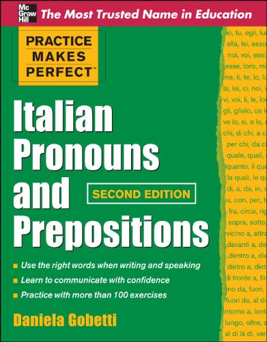Italian Pronouns and Prepositions  2nd 2011 edition cover