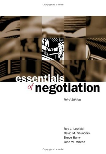 Essentials of Negotiation  3rd 2004 (Revised) edition cover