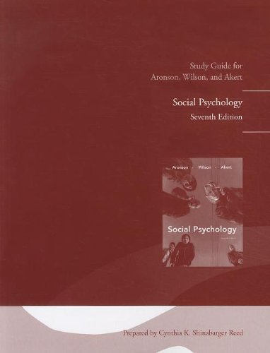 Student Study Guide for Social Psychology  7th 2010 edition cover